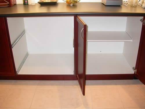 convert kitchen cabinet to drawers 2